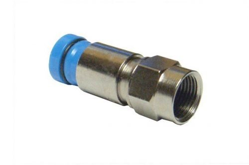 Coax RG6 Compression type Connector - Blue (Pack 10pcs)