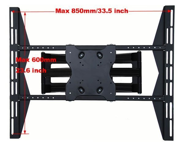 """Articulating / Full-Motion Wall Mount Bracket for 37"""" ~ 70"""" up to 200lbs max. Max VESA 800x600-96"""