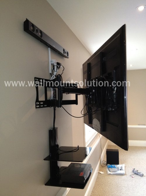 """Articulating / Full-Motion Wall Mount Bracket for 37"""" ~ 70"""" up to 200lbs max. Max VESA 800x600-253"""