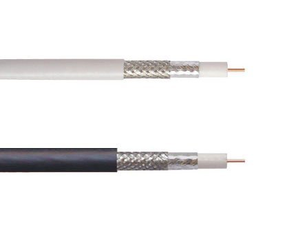 Coaxial RG6 cable 100ft Roll - Available in Black or White-0