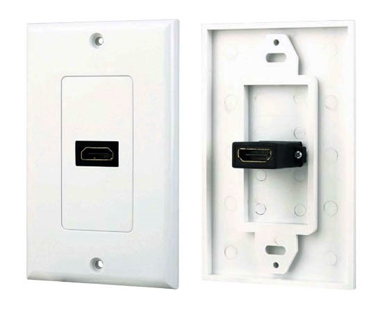 1 Port HDMI Wall Plate - Coupler Type-0