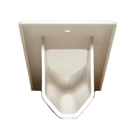 DataComm 45-0001-WH Cable Pass through Single Gang Recessed Wall Plate-117