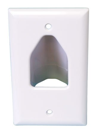 DataComm 45-0001-WH Cable Pass through Single Gang Recessed Wall Plate-157
