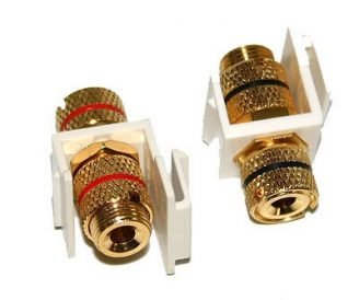 Keystone Banana Speaker Wire Plugs - Pair