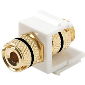 Banana Plug Binding Keystone Jacks - 1pc Black Ring & 1pc Red Ring (White)-908