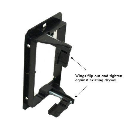 1 Gang Low Voltage Wall Plate Mounting Bracket - Arlington LV1-140