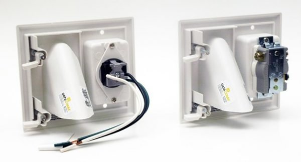 DataComm 45-0023 Recessed Pro-Power Kit with Straight Blade Inlet -329