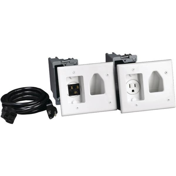 DataComm 45-0023 Recessed Pro-Power Kit with Straight Blade Inlet -0