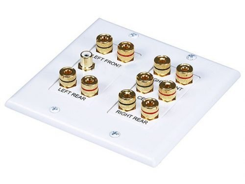 5.1 Channel Surround Sound Distribution Wall Plate