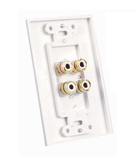 Banana Plug Wall Plate - 4 Posts - Back