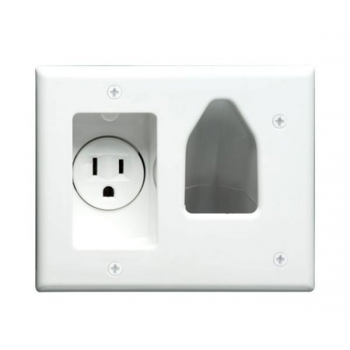 Recessed Power with Cable Pass-thru