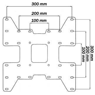 VESA Adaptor Plate for up to 300 x 300-259