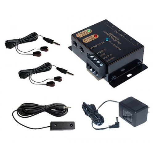 Modular Type Infrared IR Remote Control Repeater - Complete Kit with 4 Emitters