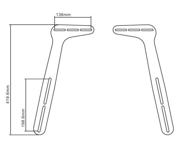 Sound Bar Brackets (1 Pair) - Universal Design & Supports up to 33lbs