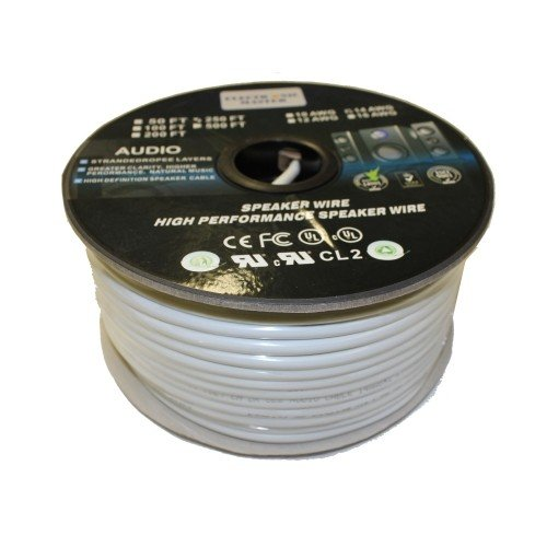 Speaker Wire 250ft - 16AWG 2 Conductors CL2/FT4 in-wall rated-0