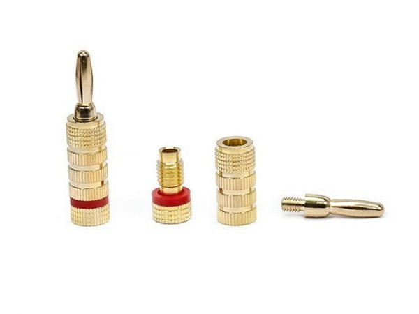 Banana Plugs - Closed screw type (5 pairs) Gold Plated-408