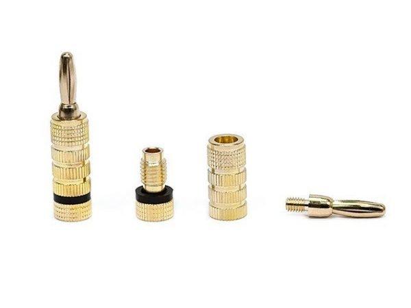 Banana Plugs - Closed screw type (1 pair) Gold Plated-412