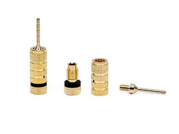 Non-Banana Plugs - Pin screw type (1 pair) Gold Plated-431