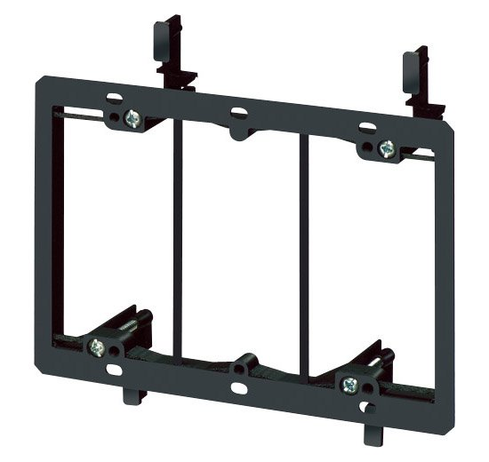 3 Gang Low Voltage Wall Plate Mounting Bracket - Arlington LV3-0