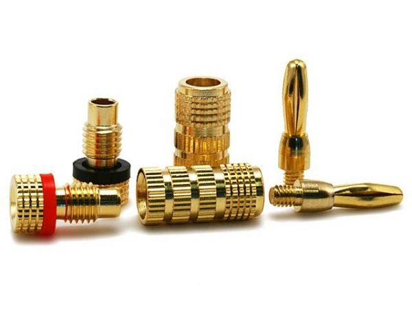 Banana Plugs - Closed screw type (1 pair) Gold Plated-411