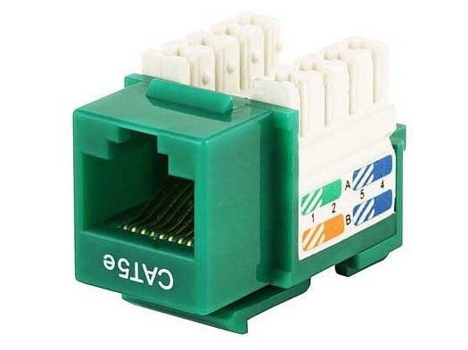 CAT5e Punch Down Keystone Jack (Green)