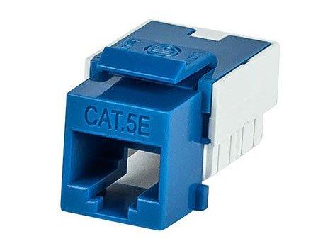 CAT5e Punch Down Slim Keystone Jack (Blue)