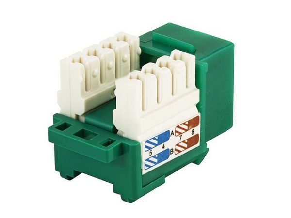 CAT6 Punch Down Keystone Jack (Green)