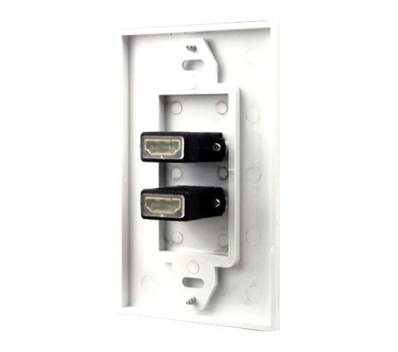 2 Port HDMI Wall Plate - Coupler Type-552
