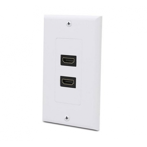 2 Port HDMI Wall Plate - Coupler Type-0