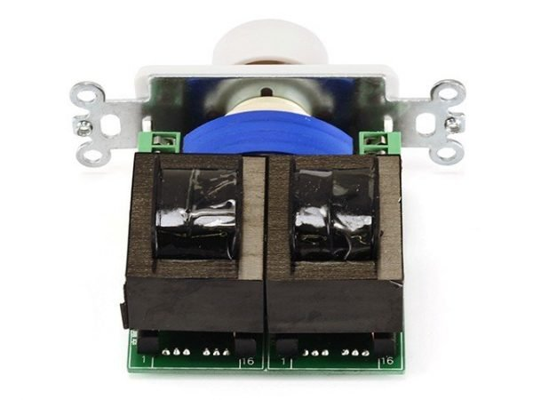 Rotary Type Speaker Volume Control Wall Plate 100 Watts RMS-546