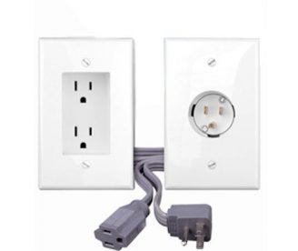 Bridge Style Power Kit - Recessed Outlet & Inlet with Power Cord-0