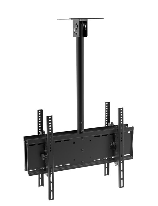 """Ceiling Mount Back-to-Back Double sided for TV size 32"""" to 60"""" & up to 155 lbs max capacity"""