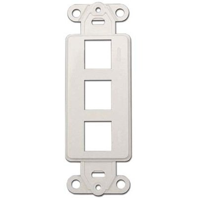 3 Port - Keystone Insert for Decora Wall Plate