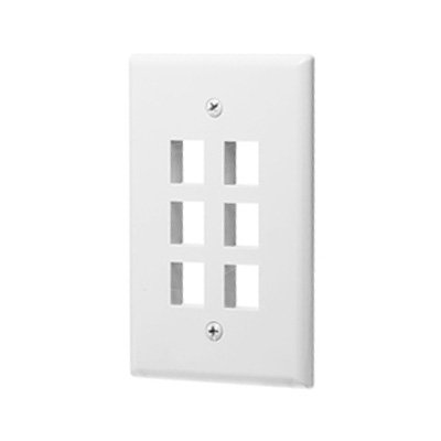 6 Port - Keystone Wall Plate (1 Gang)-0