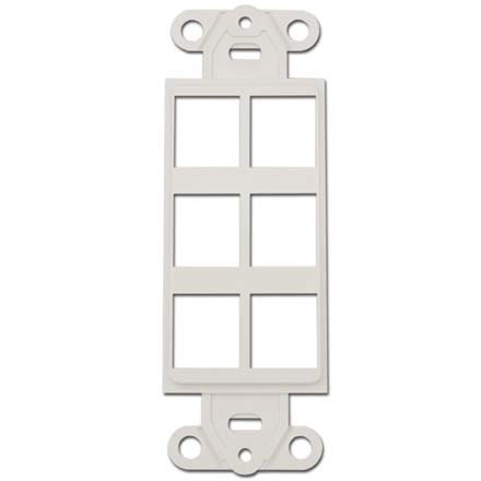 6 Port - Keystone Insert for Decora Wall Plate