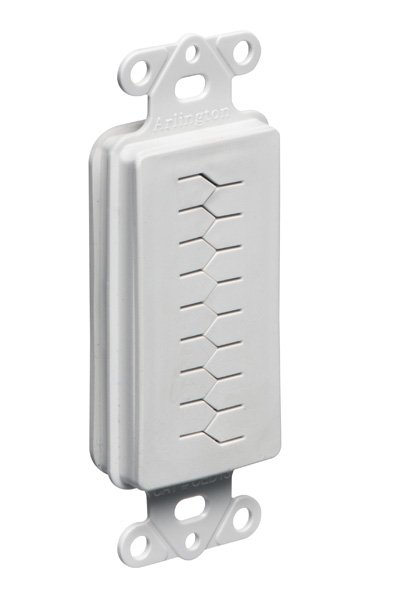 Cable Pass-through Flexible / Slotted Cover Insert for Decora Wall Plate