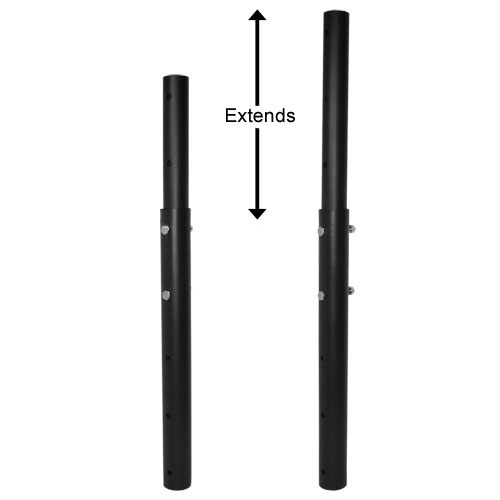 """Telescoping ceiling mount extension pole attachment - Adjustable from 22"""" to 34""""-0"""