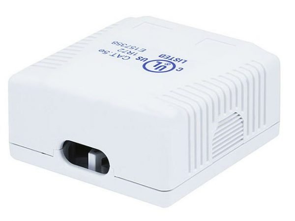 Surface Mount Box for Cat5e - Double Connection