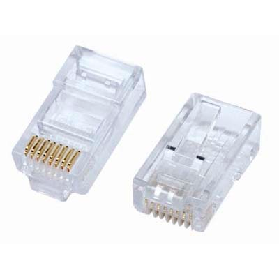 RJ45 Modular Plug Connectors for Stranded Cables - Pack of 100pcs