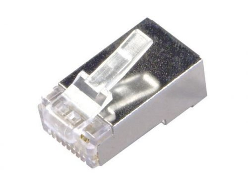 Cat5e Shielded Connector for Solid & Stranded Cables - Pack of 100pcs