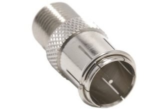 Push-On F Male (Quick Connector) to Female F Adapter