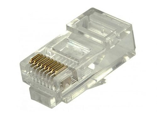 RJ45 Modular Plug Connectors for Solid Cables - Pack of 100pcs