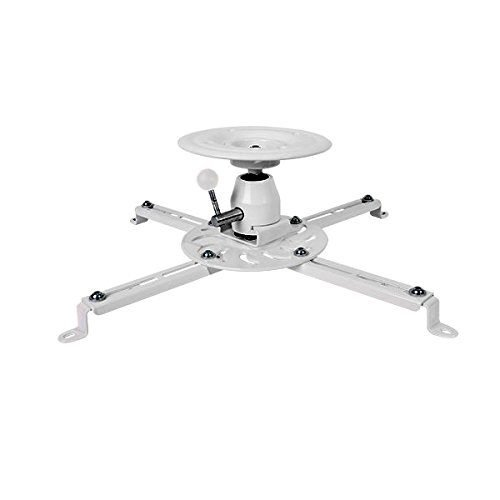Projector Ceiling Mount Bracket (Universal type | Fits most projectors) - Tilts ±20° | Rotates 360° | Up to 55lbs