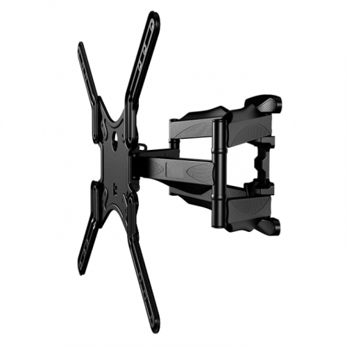 """Slim Low-Profile Full-Motion Wall Mount fits most 23"""" ~ 55"""" TV & max weight up to 80lbs. Max VESA 400x400"""