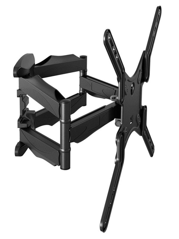 "Slim Articulating Wall Mount fits most 23"" ~ 55"" TV & max weight up to 80lbs. Max VESA 400x400"