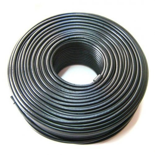 Coaxial RG6 Cable - CMR (Riser) Rated for in-wall installation 18AWG 60% AL Braid + Foil 100ft Roll - Black