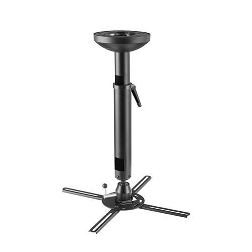 Projector Ceiling Mount Bracket with Height Adjustable Pole (Universal type | Fits most projectors) - Tilts ±20° | Rotates 360° | Up to 66lbs