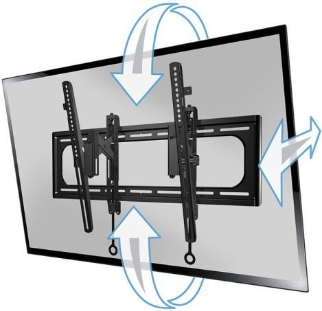 "Sanus VLT6 Advanced Tilt Premium TV Wall Mount for 46"" ~ 90"" TVs & max weight up to 150lbs. Max VESA 690x415-1210"