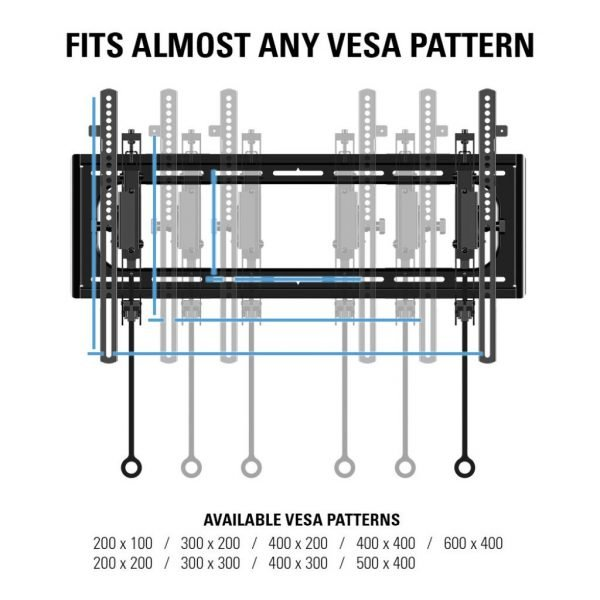 "Sanus VLT6 Advanced Tilt Premium TV Wall Mount for 46"" ~ 90"" TVs & max weight up to 150lbs. Max VESA 690x415-1208"