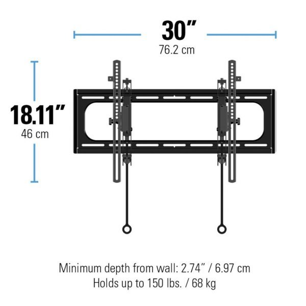 "Sanus VLT6 Advanced Tilt Premium TV Wall Mount for 46"" ~ 90"" TVs & max weight up to 150lbs. Max VESA 690x415-1209"